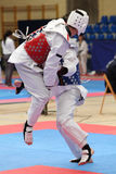 Taekwondo-Kampf stockbild