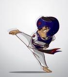 Taekwondo kampsport Arkivfoton