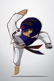 Taekwondo kampsport stock illustrationer