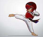 Taekwondo kampsport Arkivbilder