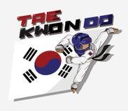 Taekwondo kampsport Royaltyfri Bild