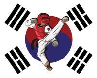 Taekwondo kampsport Arkivbild