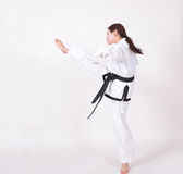 Taekwondo kick Royalty Free Stock Image