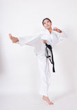 Taekwondo kick Stock Photo