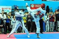 Taekwondo konkurrens Arkivbild