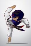 Taekwondo krijgsart. Royalty-vrije Stock Foto's