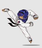 Taekwondo krijgsart. Royalty-vrije Stock Afbeeldingen