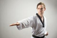 Taekwondo-Mann Lizenzfreies Stockfoto