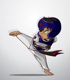 Taekwondo martial art Stock Photos