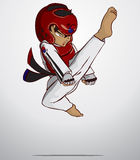 Taekwondo martial art. Vector and illustration Stock Photography