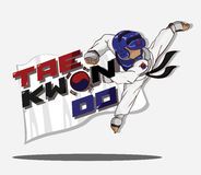 Taekwondo martial art. Vector and illustration Royalty Free Stock Photography