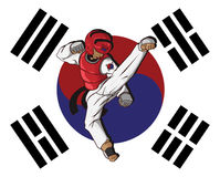 Taekwondo martial art Stock Photography