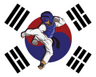 Taekwondo martial art. Vector and illustration Royalty Free Stock Photo