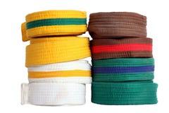 Taekwondo paski Zdjęcia Royalty Free