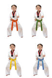Taekwondo pojke Arkivfoton