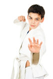 Taekwondo sports handsome guy Stock Photography