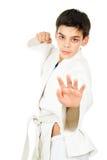Taekwondo sports stattlichen Kerl Stockfotografie