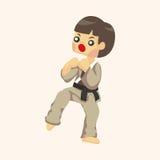 Taekwondo theme elements Royalty Free Stock Photo