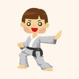Taekwondo theme elements Royalty Free Stock Images