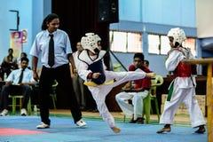 Taekwondo Tournament Royalty Free Stock Images