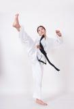 Taekwondo-Tritt Lizenzfreie Stockfotografie