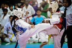 Taekwondo-Turnier Lizenzfreie Stockfotos