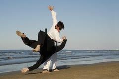 Taekwondo und apkido Stockfoto