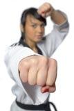 Taekwondo. Woman in a kimono Stock Images