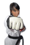 Taekwondo. Woman in a kimono Stock Photos