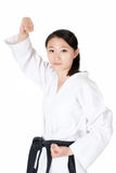 Taekwondo woman portrait Stock Images