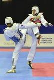 Taekwondo wtf toernooien Royalty-vrije Stock Afbeeldingen