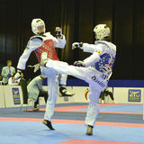 Taekwondo wtf tournament Royalty Free Stock Image