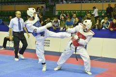 Taekwondo wtf tournament Royalty Free Stock Image