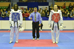 Taekwondo wtf tournament Stock Images