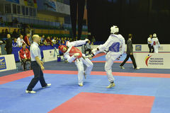 Taekwondo wtfturnering Arkivfoto