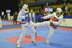 Taekwondo wtfturnering Arkivbild