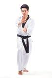 Taekwondoactie royalty-vrije stock foto's