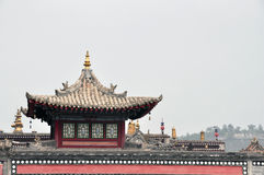 Taer Temple. Colorful decorative building top is in Taer Temple, Qinghai, China Royalty Free Stock Image