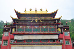 Taer Temple. Colorful decorative building top is in Taer Temple, Qinghai, China Royalty Free Stock Photography