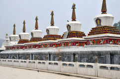 Taer Temple stupa. Colorful decorative  building is in Taer Temple, Qinghai, China Stock Photography