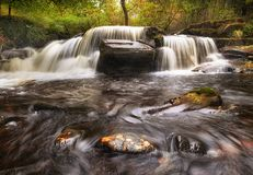 Taf Fechan Forest waterfall Royalty Free Stock Image