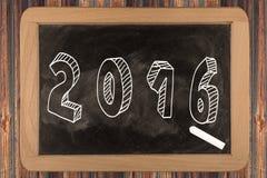 2016 - Tafel Lizenzfreies Stockbild