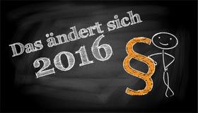 Tafel - 2016 Stockfoto