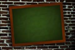Tafel auf einer Wand Lizenzfreie Stockfotos