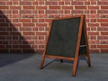 Tafel auf Straße Stockbild