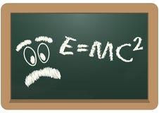 Tafel E=mc2 Stockfotos