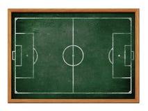 Tafel für Fußball- oder Fußballteambildungszeichnung Stockbilder