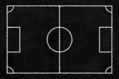 Tafel-Fußball-Hintergrund Stockbild