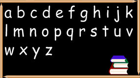 Tafel mit Alphabet Stockfotografie