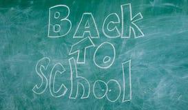 Tafel mit Aufschrift zurück zu Schule Anzeige zurück zu Schultafelhintergrund Zurück zu Schule ist es Lizenzfreies Stockbild